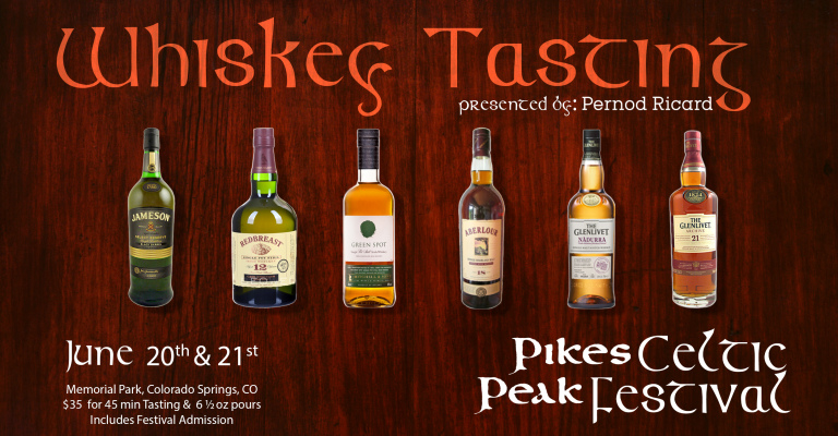 Whiskey Tasting at Pikes Peak Celtic Festival